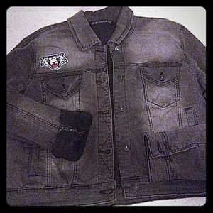 Black Jean jacket with patches